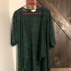 Green and black Shirley cardigan size small